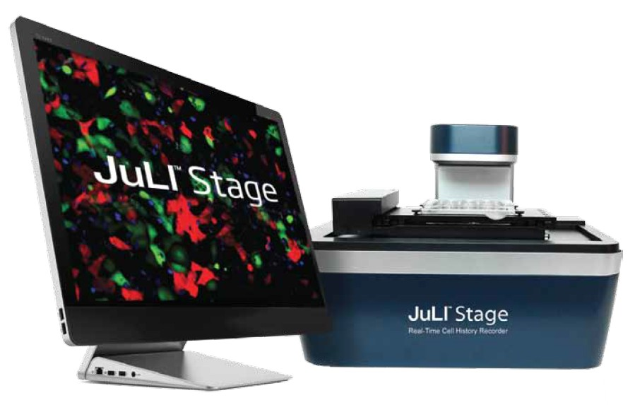 New JuLI™ Stage, real time cell history recorder for cell biology research